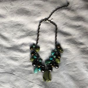 Chico's Turquoise Stone Statement Necklace